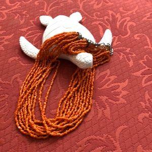 Jewelry - Orange beaded necklace